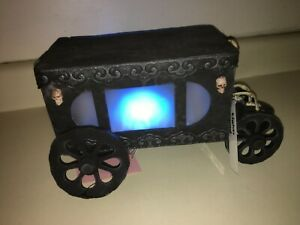 Halloween PROTOTYPE prop LIGHT UP HAUNTED HEARSE/CARRIAGE. Lights and sounds.