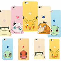 "Cute Pokemon Pikachu Hard Case Back Cartoon Funny For Iphone 6 6s Plus 4.7"" 5.5"""
