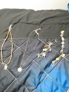 4pc Brighton Jewelry Lot 1 charm key chain, 1 Bracelets & 2 Necklaces +++