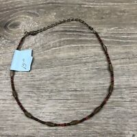 Vintage Bead 15 Inch Necklace Choker Small