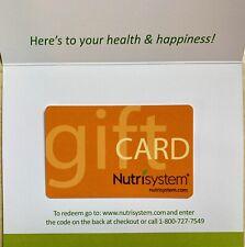 Nutrisystem Us Nationwide Gift Cards For Sale Ebay