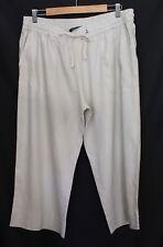 SPORTSCRAFT ~ Sand Beige Cropped Linen Viscose Cropped Dressy Pants