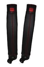 Red stitch 2x ceinture peau couvre fits TOYOTA LAND CRUISER PRADO lj78 / LJ70