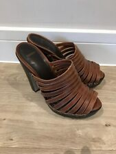Top Shop Ladies Brown High Heel Platform Sandals Size UK 5 EU 38 Good Condition
