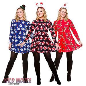 Ladies Christmas Dress Xmas Party Novelty