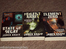3 x paperback: State of Decay series 1-3 by James Knapp novel book zombies