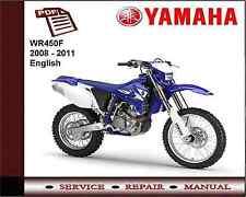 Yamaha Wr450f Wr450 F 2008 - 2011 servicio de Taller reparación Manual
