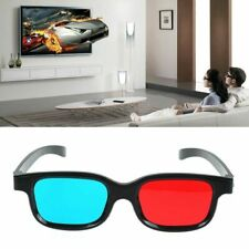 1x Black Frame Red Blue 3D Glasses For Dimensional Anaglyph Movie-Game New