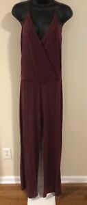 Cynthia Rowley Burgundy T-Back Jumpsuit Size S
