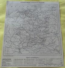 1898 ,Département d'ILLE ET VILAINE  RENNES 35