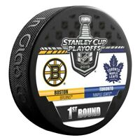 Boston Bruins 2019 Toronto Maple Leafs Stanley Cup Playoff Hockey Puck