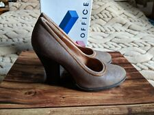 Lovely Women's Leather Round Toe Pumps Comfy Heels Shoes from Office UK Size 4