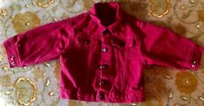 Vintage Little Levis (18 Mo.) Red Truckers Jean Jacket Orange Tag Made in USA