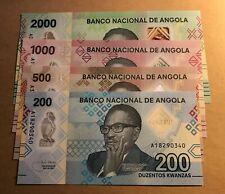 ANGOLA - 2020 200 + 500 + 1000 + 2000 Kwanzas UNC Polymer