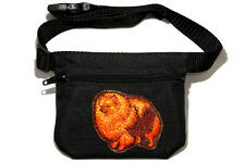 Embroidered Dog treat bag - for dog shows. Breed - Pomeranian