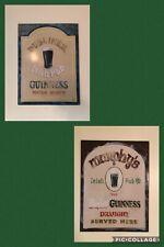 Guinness Beer 2 Pc Metal Signs Bar Mancave Barware Advertising Murphy'S Dubliner