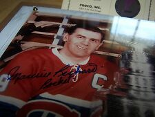 Maurice Richard Montreal Canadiens Signed Photograph Plaque - 8x10 Proco Inc LOA