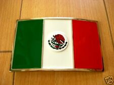 Mexico Country Flag Logo Belt Buckle Mexican Amigo