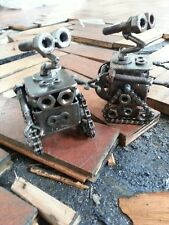 Wall e Sculpture from Scrap Metal Car/Bike Parts, Wall-e Figure, Walle 12-15cm