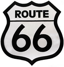ROUTE 66 PATCH Embroidered HIGHWAY ROAD SIGN LARGE IRON-ON HISTORIC NEW APPLIQUE