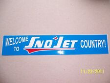"""1.75""""X9"""" (NEW Vinyl)  Welcome to Sno-Jet COUNTRY (Vintage copy of old Sticker)"""