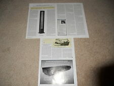 Audiostatic ES-100 Electrostatic Speaker Review, 5 page, Very Rare Info! Specs