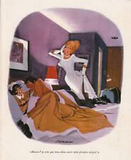 Publicité ancienne humour 1974 contemplation issue de magazine