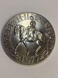 Genuine 1952-1977 H M Queen Elizabeth II Silver Jubilee Commemorative Crown Coin