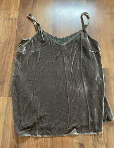 Sundance Cami Womens Small S Rayon Silk Velvet shirt Tank Top