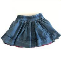 BABY GAP Denim Blue Jean Skirt  Maroon Tutu Girls Size 3T babyGap