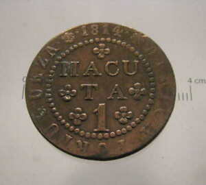 PORTUGAL - KM#46 ANGOLA 1 MACUTA 1814 COPPER