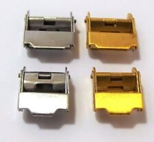 assortimento 4 chiusure morsetto tipo casio acciaio gold silver 12-14 mm buckle