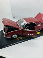 Anson 1963 Ford Thunderbird Red 1:18 Diecast Good Condition See Pix