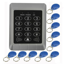 RFID Security Reader Entry Door Lock keypad Access Control System+10 Pcs Keys