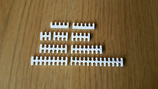 10pcs white open cable combs set for 3mm sleeving - choose any 10