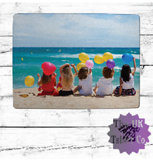 """PERSONALISED 16"""" X 12"""" GLASS CHOPPING BOARD - CUSTOMISED PHOTO & WORDING PRINT"""