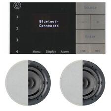 Systemline E100 Bluetooth DAB/FM music system + 2 x Speaker Bundle