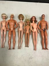 6 Vintage Barbies And Kens dolls lot #6