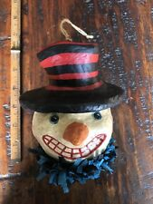 """Bethany Lowe Vintage Style Paper Mache 6"""" Jolly Snowman Ornament:Christmas,Decor"""