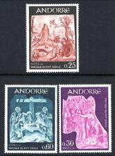 French Andorra #178-180 MNH CV$3.20 Jesus in the Garden of Gethsemane