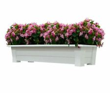Deck Planter White Window Plant Flower Box Herb Gardens Patio Home Decor 36 x 15