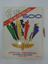 1973 Indianapolis 500 Program Program Gordon Johncock STP Patrick Eagle Offy