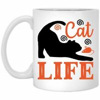 Cat Lover Coffee Mug Cat Life  Coffee Mugs Gift For Cat Owners Coffee Cup