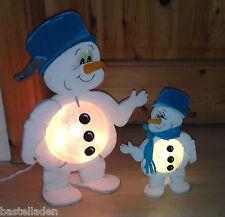 Leuchti Schneemann Frosty Kochtopf Holz natur