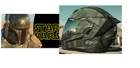 BOBA FETT STAR WARS MOTORBIKE ICON AIRFLITE BATTLESCAR 2 MOTORCYCLE CRASH HELMET