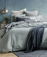 Lucky Brand Santa Fe Stripe Reversible Twin Comforter Set Light Blue $280 i1661