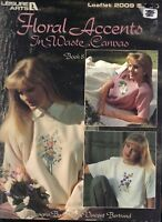 Counted Cross Stitch Patterns Floral Accents 8 Projects By Leisure Arts