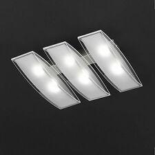 WOFI lámpara LED de techo LINEE 6 Luces Níquel CRISTAL 30W 2400 luz SALON