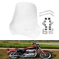 7/8'' & 1'' moto Déflecteurs pare-brise Grand Déflecteurs Windscreen Pour Harley