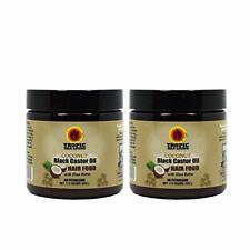 "Tropic Isle Living Jamaican COCONUT Black Castor Oil Hair Food 4oz ""Pack of 2"""